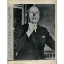 1948 Press Photo Ferdinand Freidensburg Mayor of Berlin at Christian Dem Union