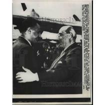 1957 Press Photo Syrian President Shukai El Kuwatly & Egyptian President Nasser