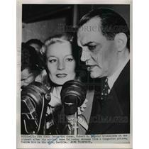 1951 Press Photo Mr & Mrs Robert Voegler in NYC after released from Hungary