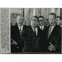 1970 Wire Photo Communist Party Chief Leonic Brezhnev and West German