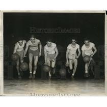 1931 Press Photo Northwestern basketball: Joe Reiff, Bob McCarnes, Bus Smith