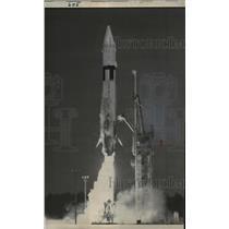 1962 Press Photo Centaur rocket at launch Cape Canaveral Florida - nee80637