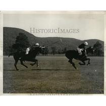 1931 Press Photo University of Arizona beats Army at polo Wilson vs Beede