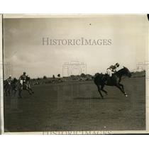 1930 Press Photo EW Hopping of Eastcott vs Sands Point at polo in NY - nes36922