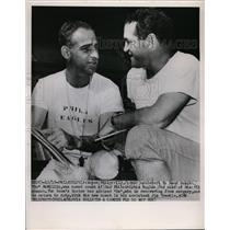 1952 Press Photo Wayne Millner named Eagles coach, assistant Jim Tremble