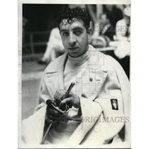 1932 Press Photo Gustavo Marzi of Italy, 1932 Olympic Fencing Gold Medalist