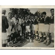 1932 Press Photo Cairo Rugby team before a practice game - nez20404