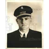 1938 Press Photo American Airlines Pilot Walter E Davis of Fort Worth Texas