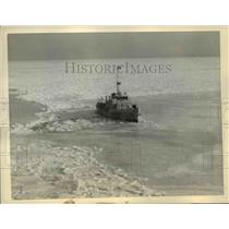 1936 Press Photo Brewster Mass. US COast Guard Cutter Harriet Lane - nee66715