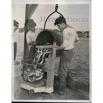 1939 Press Photo Gloucester Massachusetts, Essex County Fishermen - nee67732