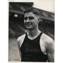 1932 Press Photo Horace Steel captain University of Pennsylvania track team