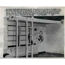 1960 Press Photo North Hollywood swastika on door of Beth Meier Temple