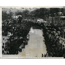 1941 Press Photo 35th Annual ski jump tournament at Fox River Grove Ill