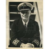 1932 Press Photo Captain RG Latta Senior Commander of Canadian Pacific Fleet