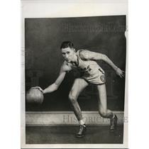 1933 Press Photo Oregon State College Ed Lewis basketball captain - nes37418