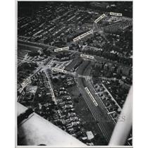 1946 Press Photo The Airview of Shaker Square - cva94443