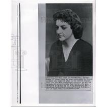 1960 Wire Photo Mrs. Barbara Powers at news conference in Moscow - cvw11393