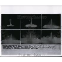 1958 Wire Photo Sequence of launched Jupiter missile in Cape Canaveral, Fla.