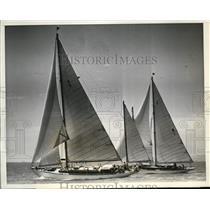 1938 Press Photo II G Steele's Odyssey vs Axelson's Jada at Long Beach CA