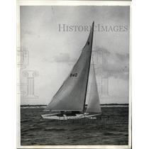 1934 Press Photo Paul Shields yacht The Gull at Bahamas Spring race - nes38816