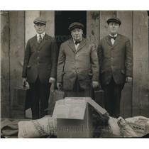 1918 Press Photo Eddy Holzworth, Capt Arthur Holzworth, Harry Holzworth