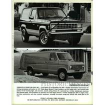 1986 Press Photo Ford Bronco II and Econoline van - cva79518