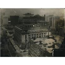 1914 Press Photo The aerial View of Federal Bldg at Superior and Public Square