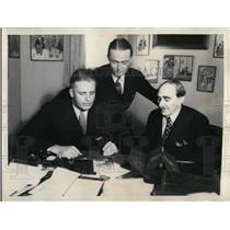 1933 Press Photo Elliott Roosevelt, Ralph Hitchcock and Samuel Platt - cva99772