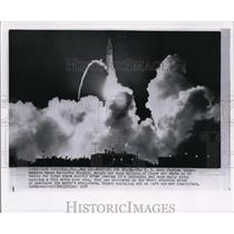 1958 Wire Photo US Army Jupiter with full scale nose cone successful launched