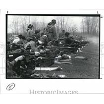 1989 Press Photo The Camp Perry Firing line during the Ohio Pistol & Rifle Match