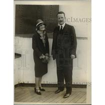 1928 Press Photo NYC Mrs & Mrs Kermit Roosevelt son of late Pres Theodore