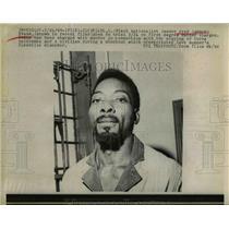 "1969 Press Photo Black Nationalist Leader Fred ""Ahmed"" Evans, Cleveland Ohio"
