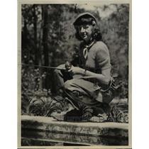 1939 Press Photo Mathilda Gray of Lake Charles La rivals her brothers.