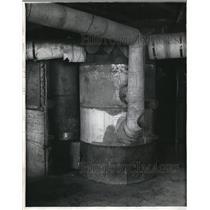 1930 Press Photo Hot air furnace,fire menace Washington Cottage Hudson Boys Farm