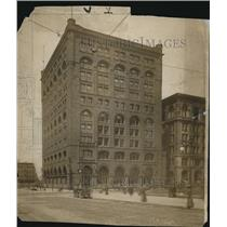 1915 Press Photo Society for Savings Building, Public Square, Cleveland