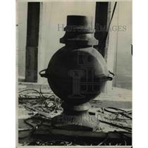1927 Press Photo Base for flag pole on the Union Tower Building - cvb00581