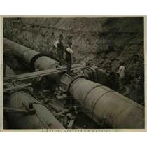 1922 Press Photo Huge pipes at the Baldwin reservoir - cva97583