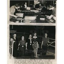 1942 Wire Photo Women Joined Men on Production at the Curtiss-Wright Warplane