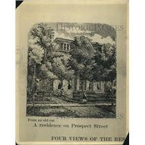 1921 Press Photo Illustration of Home on Prospect Ave - cva87055