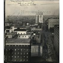 1929 Press Photo Airview Euclid Ave. form Union Trust Building. - cva85769