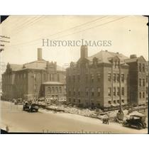 1925 Press Photo Main Building & Annex of Sibley School that built on 1884