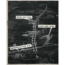 Undated Press Photo Airview of Monticello Bldv Metropolitan Park Euclid Creek