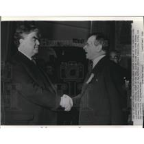 1940 Wire Photo John Lewis and Sidney Hillman during the CIO Convention