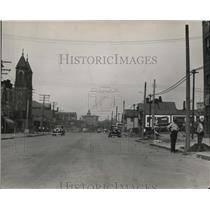 1931 Press Photo Central Avenue Road being widened to connect with Gaineg Ave.