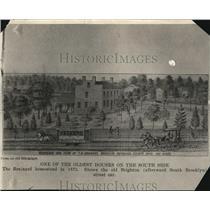 1921 Press Photo Brainard Home, the Oldest Houses on the South side - cva87687