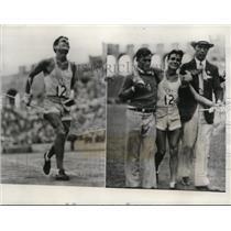 1932 Press Photo Juan Carlos Zabala wins Olympic marathon in 2 hr 31.36 minutes