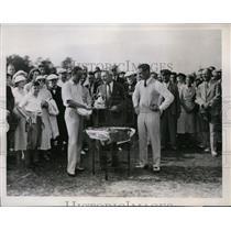 1934 Press Photo North & South Open golf winner George Dunlap, Leo Tufts