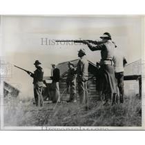1934 Press Photo Mrs CT Jackson at Annual Target Championships at Pinehurst NC