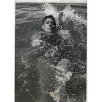 1934 Press Photo Albert Vandeweghe in 100 meter backstroke at AAU meet Chicago