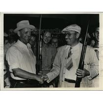 1938 Press Photo Ortello Ted West & Parr Phines at Grand American rifle shoot